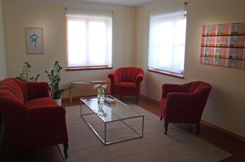 Wartezimmer Praxis für Psychotherapie Broelmann